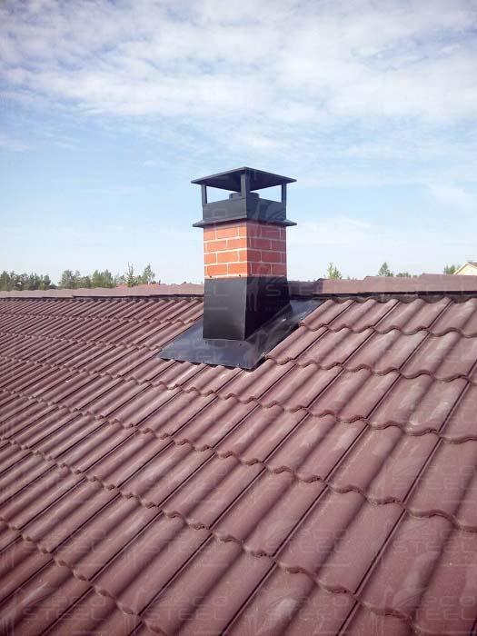 Крыша короб дымохода из каких труб делать дымоход